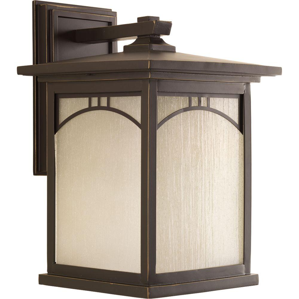 Residence Collection 1-Light Antique Bronze Outdoor Wall Lantern