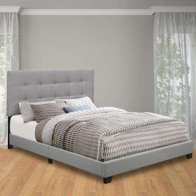 Glacier King Upholstered Bed