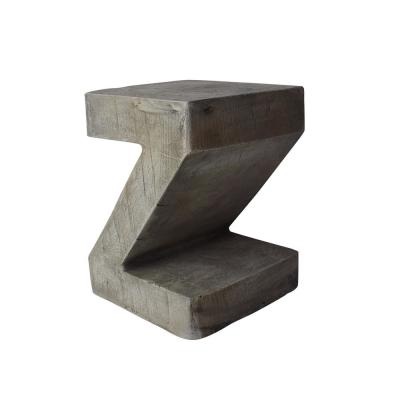 Max Light Grey Stone Outdoor Accent Table