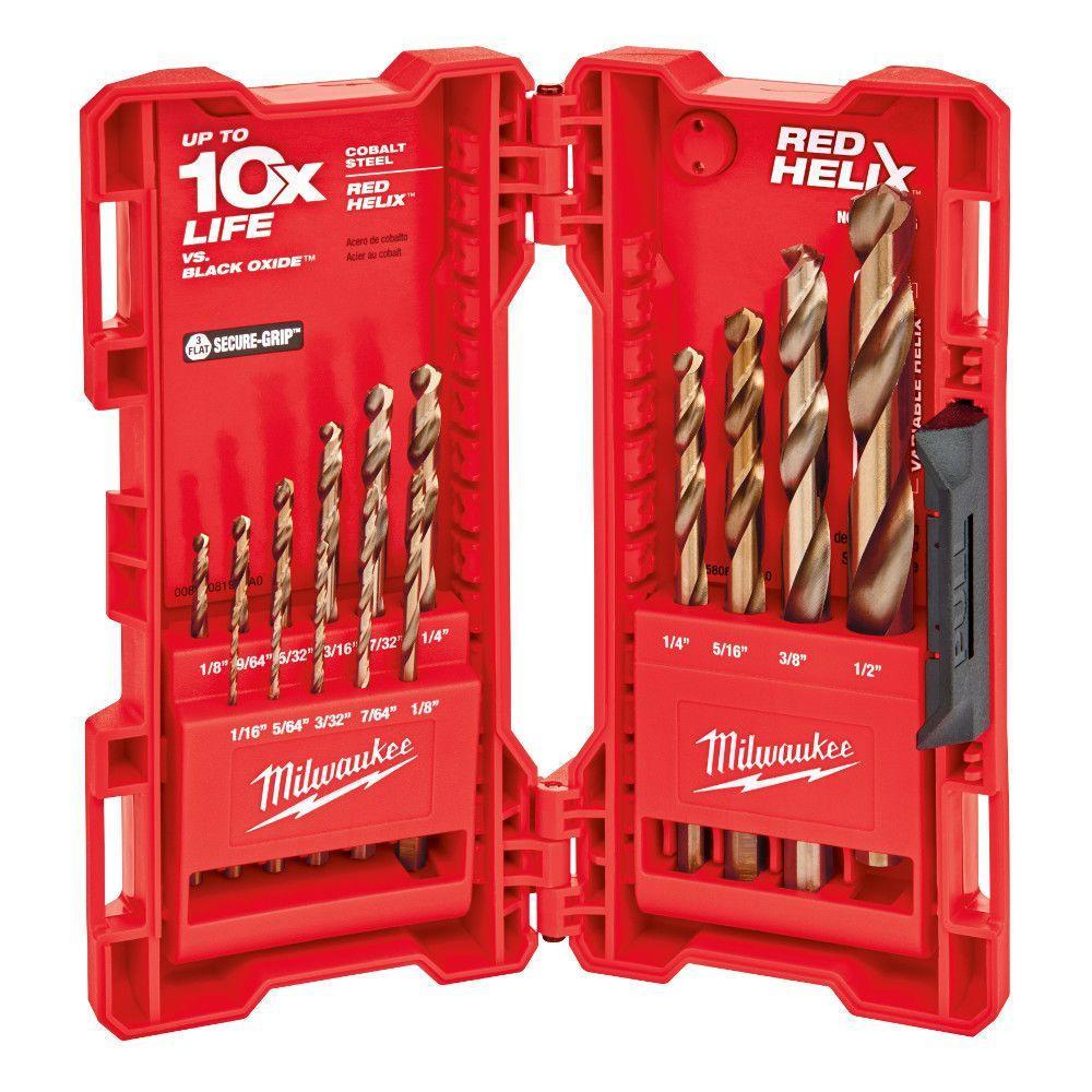 Milwaukee cobalt red helix drill bit kit 15 piece 48 89 2331 the milwaukee cobalt red helix drill bit kit 15 piece keyboard keysfo Images