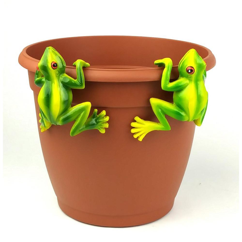 2-Piece Red Eyed Tree Frog Pot Sitter Hanger