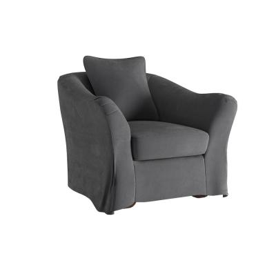 Sydney Grey Down-Filled Slipcovered Arm Chair