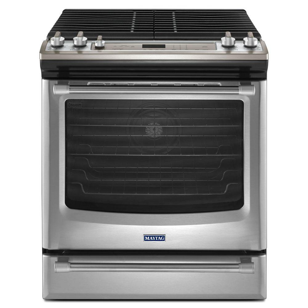 Maytag AquaLift 5.8 cu. ft. Gas Range with Self-Cleaning Convection in Stainless Steel