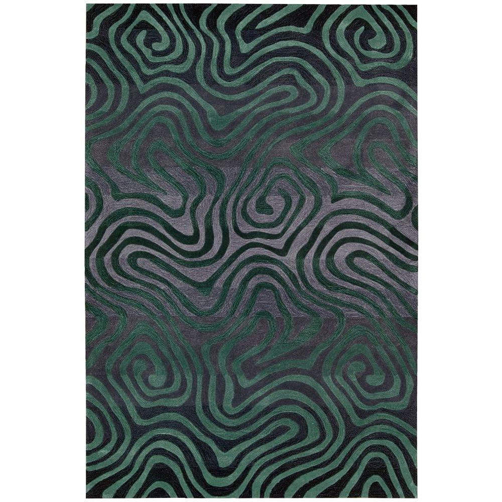 Contour Smoke/Teal 7 ft. 3 in. x 9 ft. 3 in.