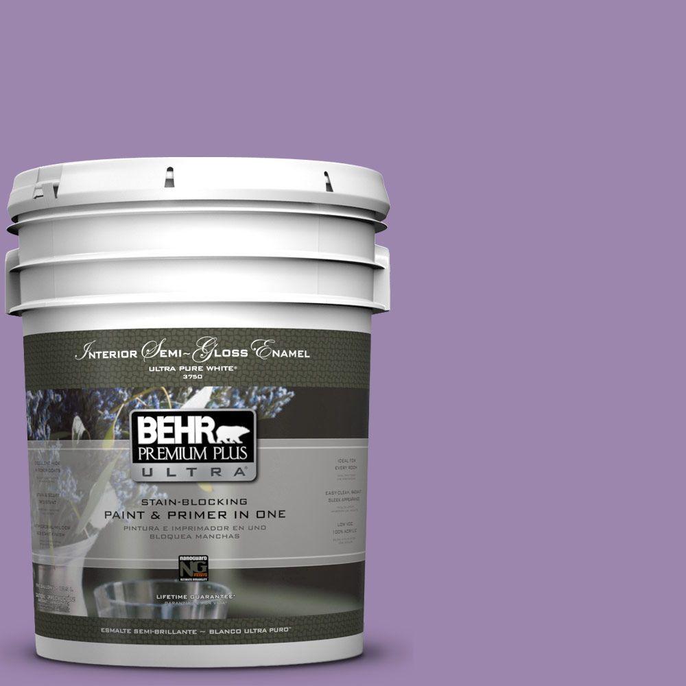 BEHR Premium Plus Ultra 5-gal. #M570-5 Celeb City Semi-Gloss Enamel Interior Paint