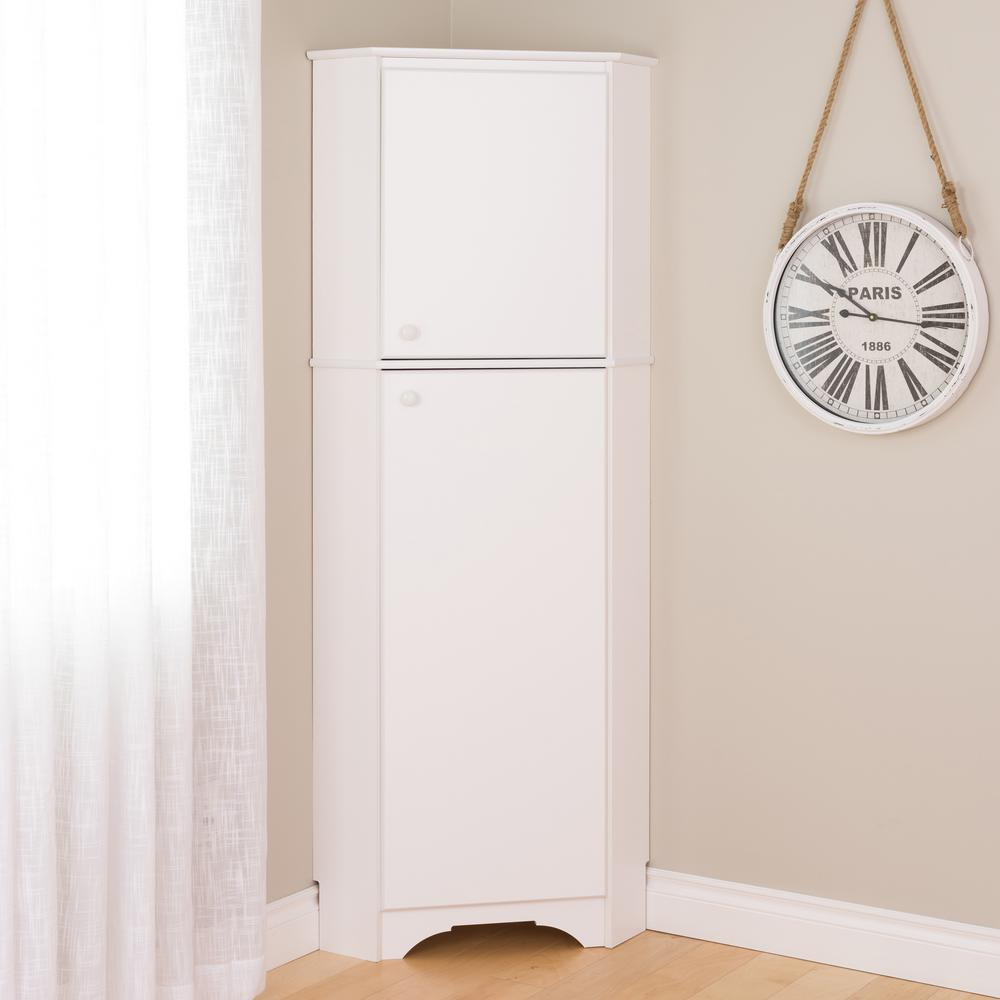 Prepac Elite Tall White Laminate Storage Cabinet