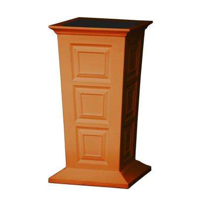Savannah 16 in. Square Terra Cotta Poly-Resin Column Planter