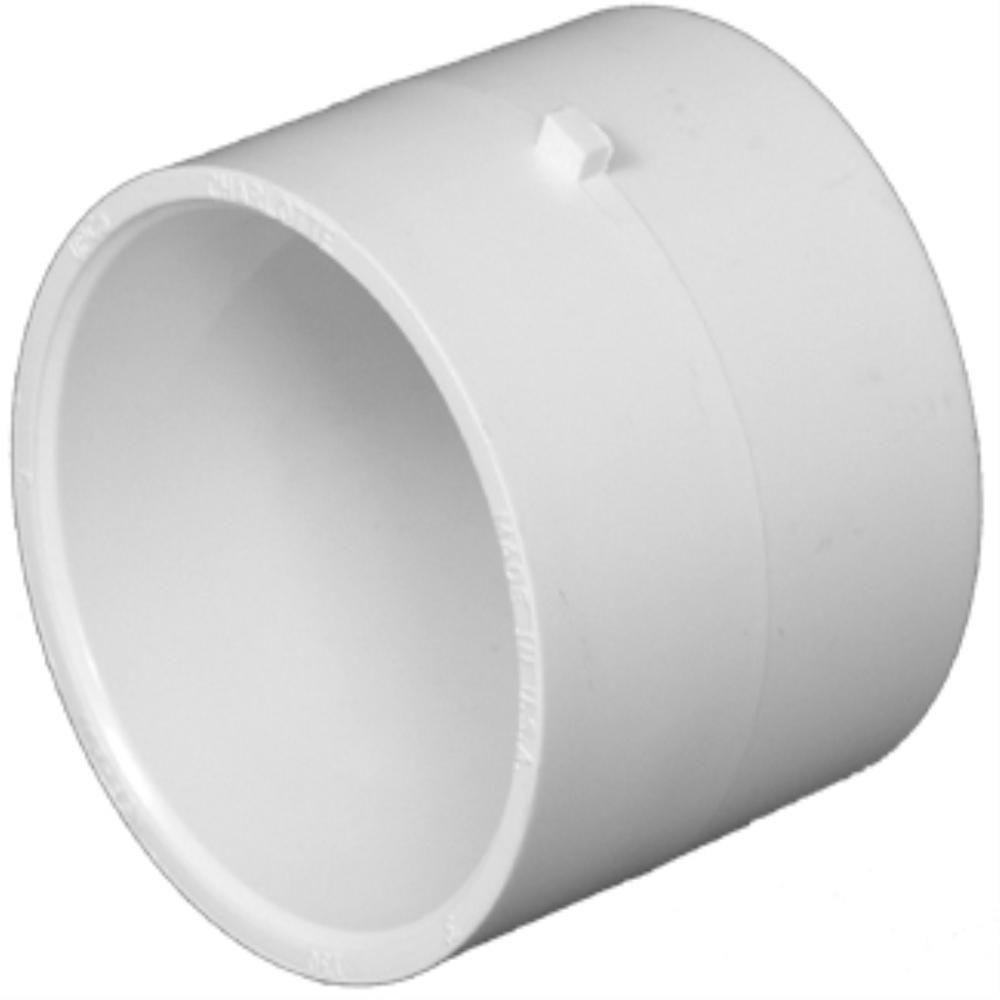 charlotte pipe 10 in pvc dwv hub repair coupling pvc 00130 1800 the home depot. Black Bedroom Furniture Sets. Home Design Ideas