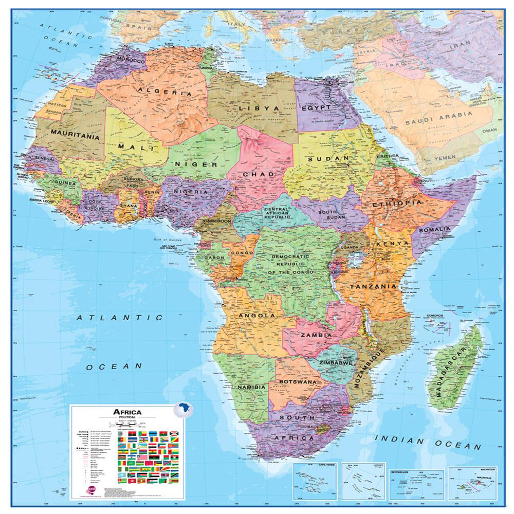 Waypoint Geographic Africa 1 8 Wall Map Wphd Milafrica The Home Depot