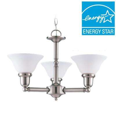 Sussex 3-Light Brushed Nickel 1-Tier Chandelier