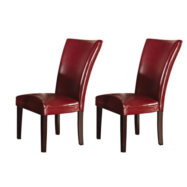 Steve Silver Company Hartford Red Parsons Chair (Set of 2)