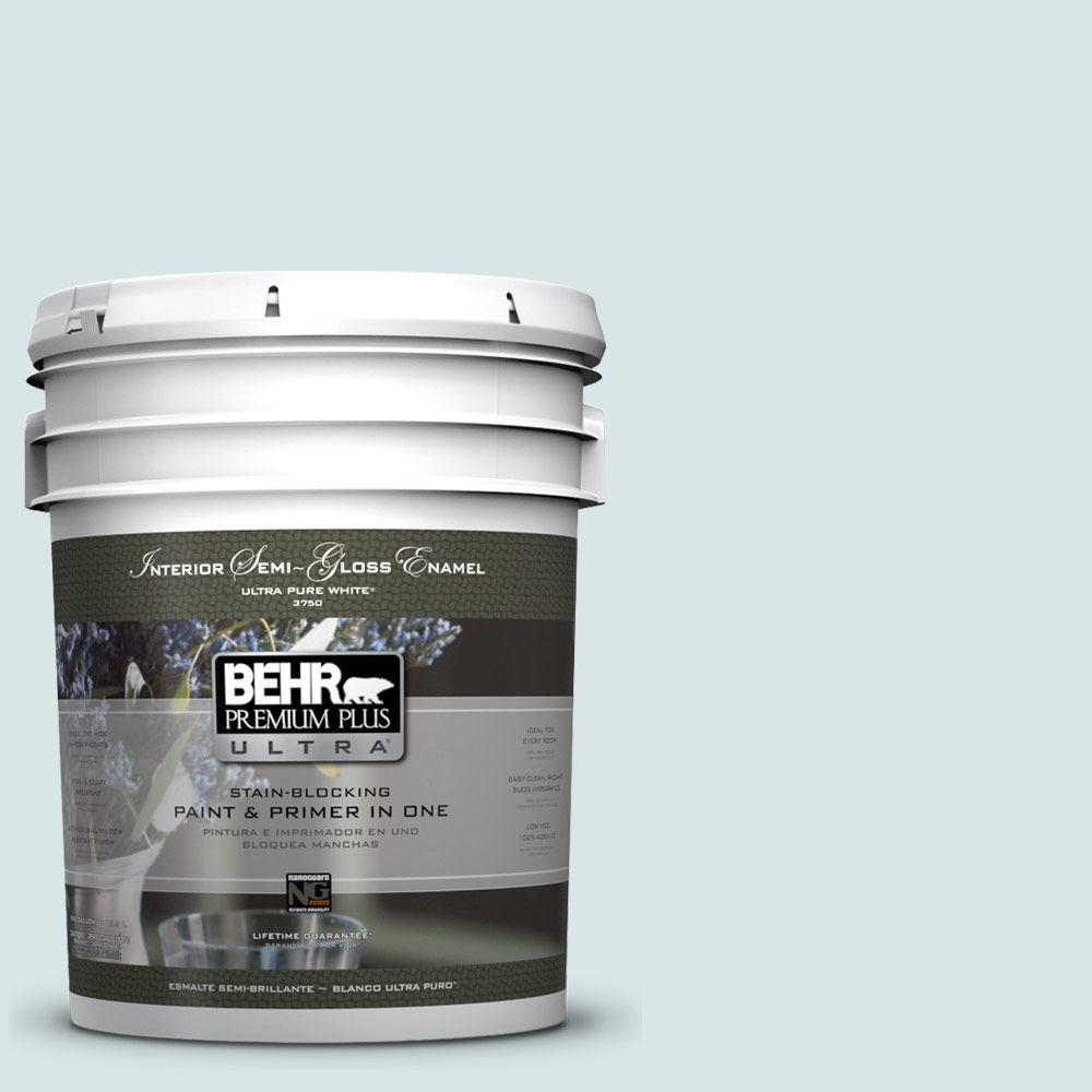 BEHR Premium Plus Ultra 5-gal. #500E-2 Aqua Breeze Semi-Gloss Enamel Interior Paint