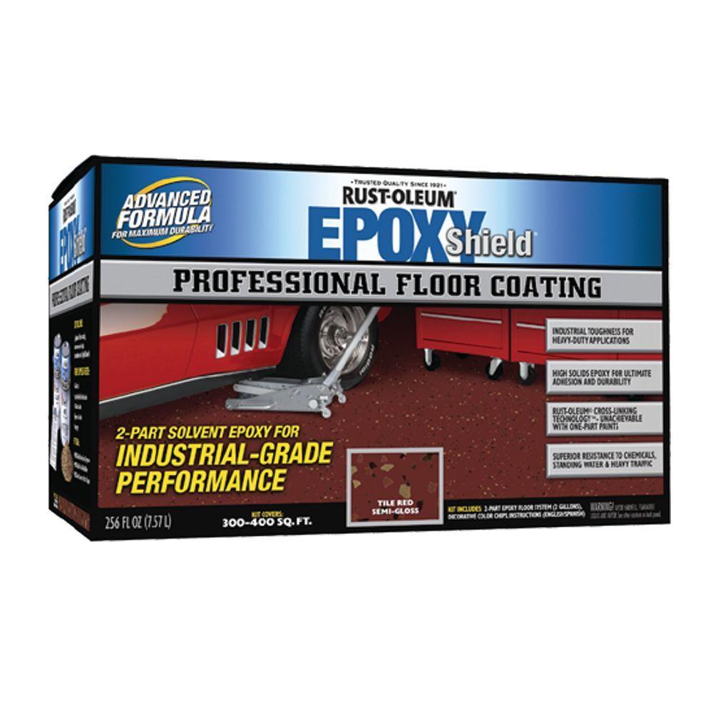 Rust-Oleum Epoxy Shield Professional Semi-gloss Tile Red Floor Coating Kit-DISCONTINUED