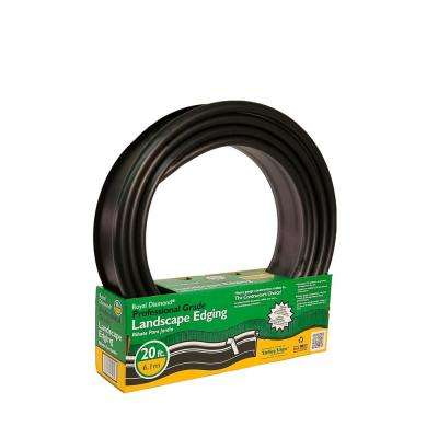 Professional 20 ft. L x 1 in. W Black Plastic Lawn Edging Coiled and Pack in a Half Box