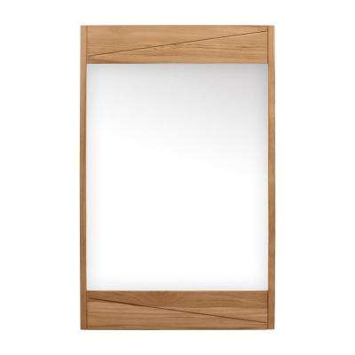 Teak 24 in. W x 38 in. H Single Framed Wall Mirror in Natural Teak