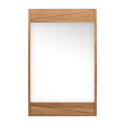 Teak 24 in. W x 38 in. H Framed Rectangular Bathroom Vanity Mirror in Natural Teak