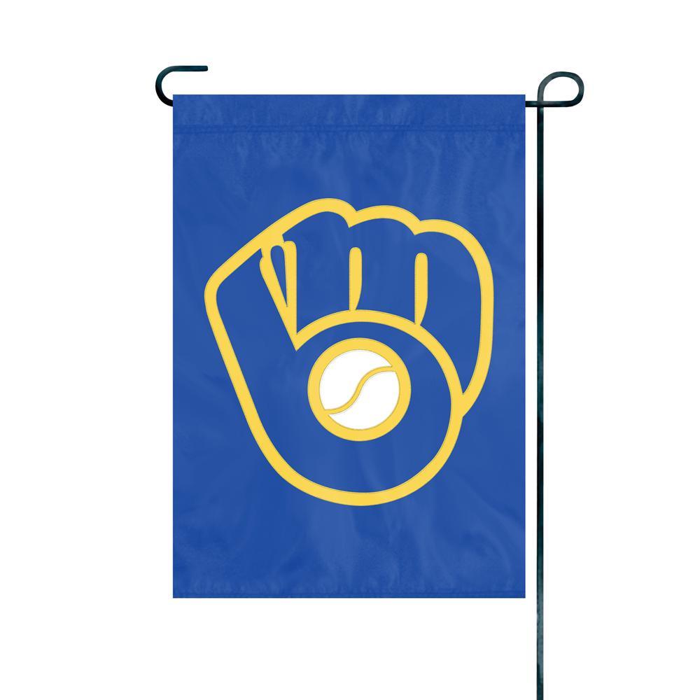 1 ft. x 1.5 ft. Nylon Milwaukee Brewers Premium Garden Flag