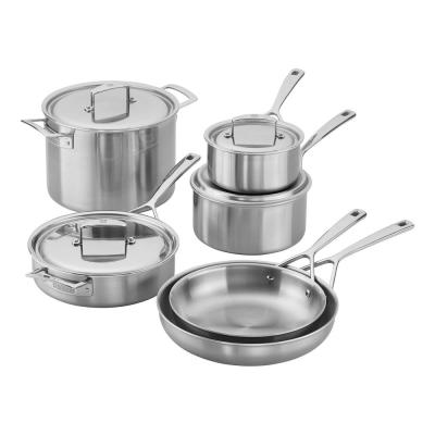 Zwilling Aurora 10-Piece 5-Ply Stainless Steel Cookware Set