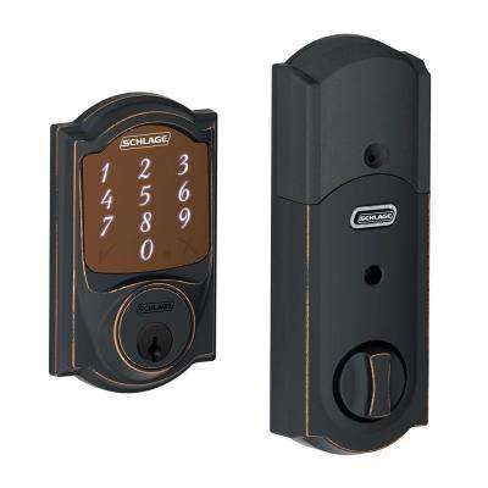 Sense Aged Bronze Camelot Smart Lock