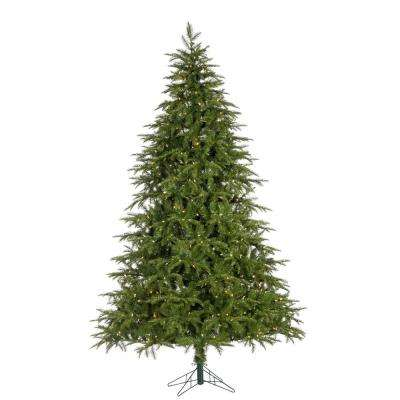 7.5 ft. Natural Cut Musical Rivera Pine Artificial Christmas Tree with 800 UL Color Changing LED Lights