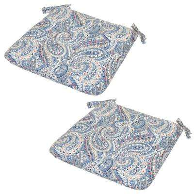 Nessa Paisley Outdoor Seat Cushion (2-Pack)