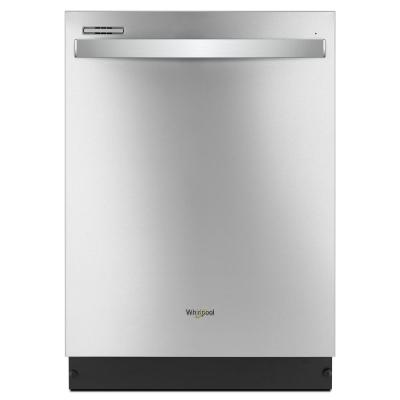 Whirlpool Top Control Built-In Tall Tub Dishwasher in Fingerprint Resistant Stainless Steel with Sensor Cycle, 51 dBA