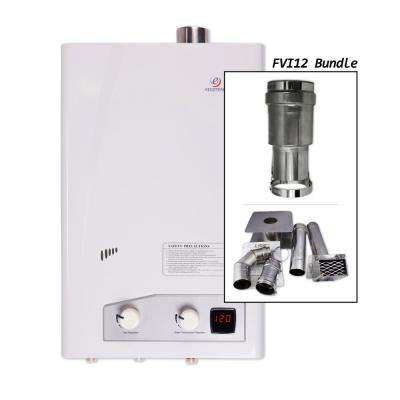 Eccotemp FVI12-LP Indoor Liquid Propane Tankless Water Heater with Horizontal Vent Kit