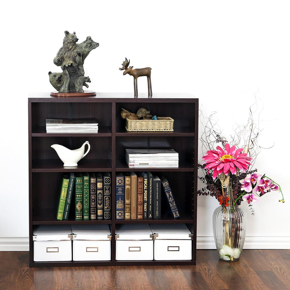 Indo Espresso Stackable Open Book Shelf