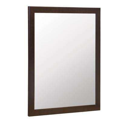 Kinghurst 29 in. W x 35 in. H Framed Vanity Mirror in Dark Cognac
