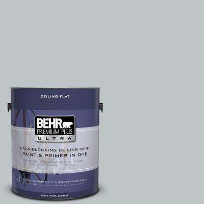 1 gal. #PPU12-10 Ceiling Tinted to Misty Morn Flat Interior Paint and Primer in One