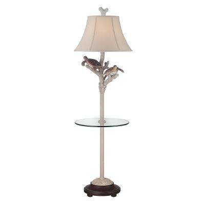 61 in. Ivory Indoor Floor Lamp