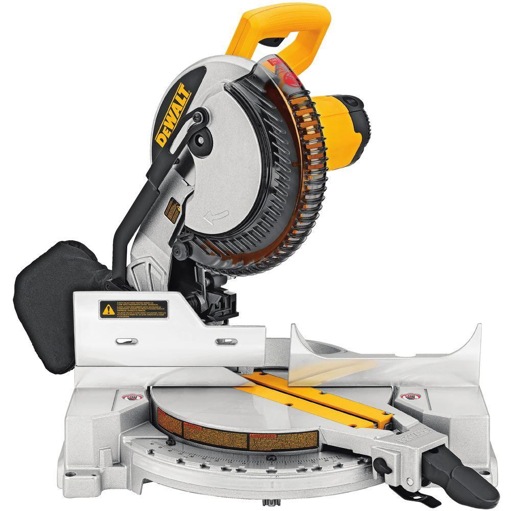 dewalt 15 amp 10 in compound miter saw dw713 the home depot. Black Bedroom Furniture Sets. Home Design Ideas
