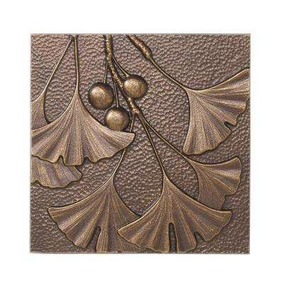 8 in. Gingko Leaf Aluminum Wall Decor