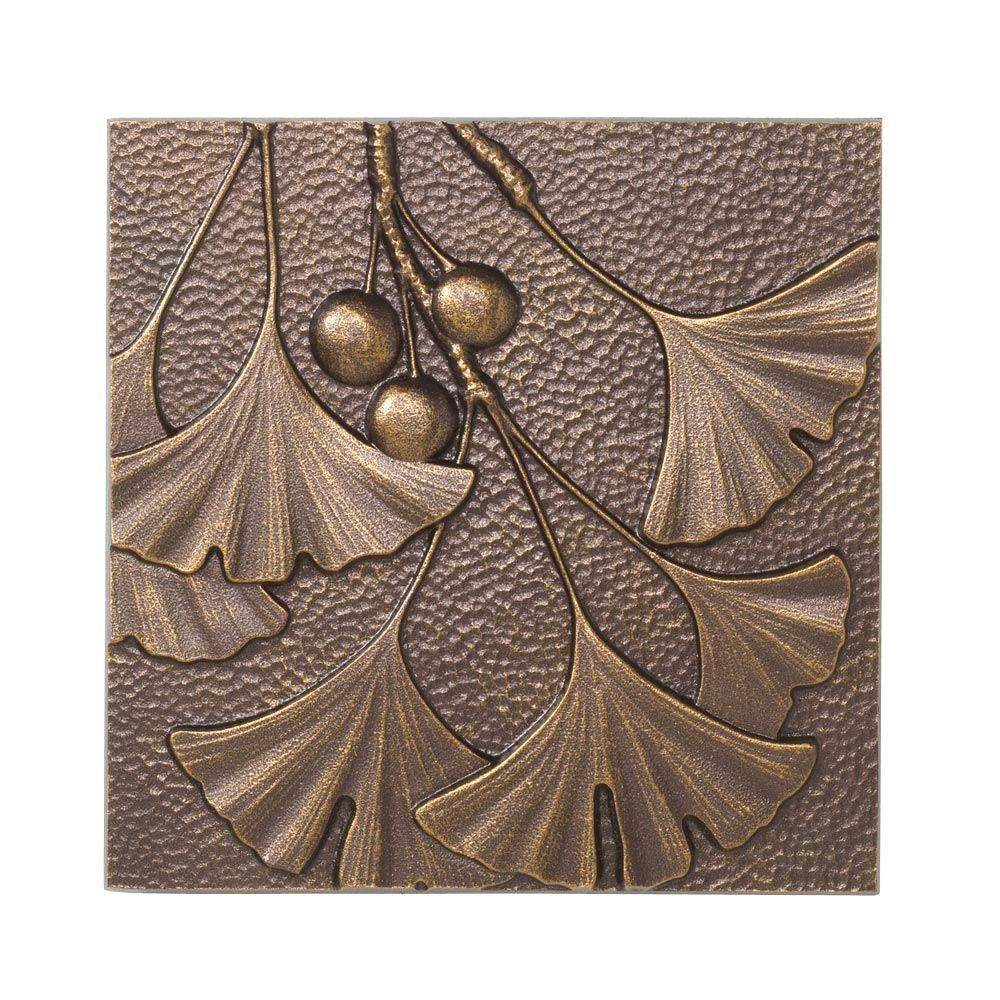 Whitehall Products 8 in. Gingko Leaf Aluminum Wall Decor