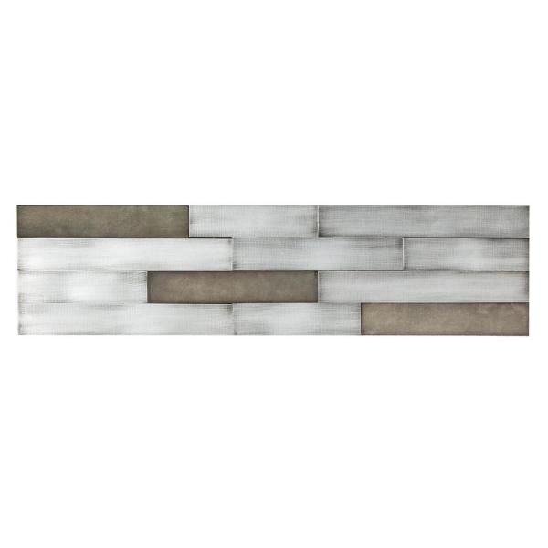 Aspect Distressed Peel and Stick 23.6 in. x 5.9 in. Metal