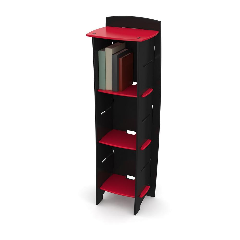 Kid's Bookcase with 3 Shelves in Race Car Collection Red and