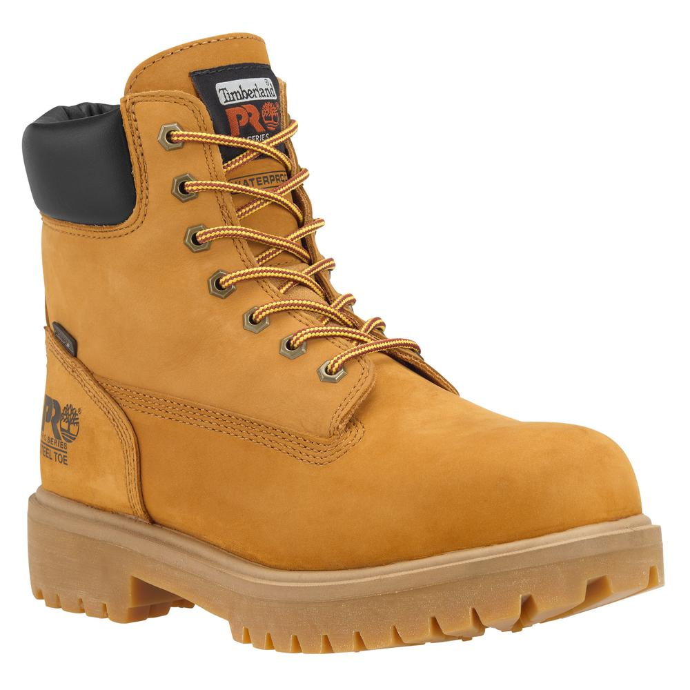 Timberland PRO Men's Direct Attach Waterproof 6'' Work Boots Alloy Toe Wheat Size 8(M)