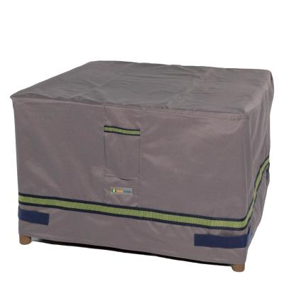 Soteria 32 in. Grey Square Patio Ottoman/Side Table Cover