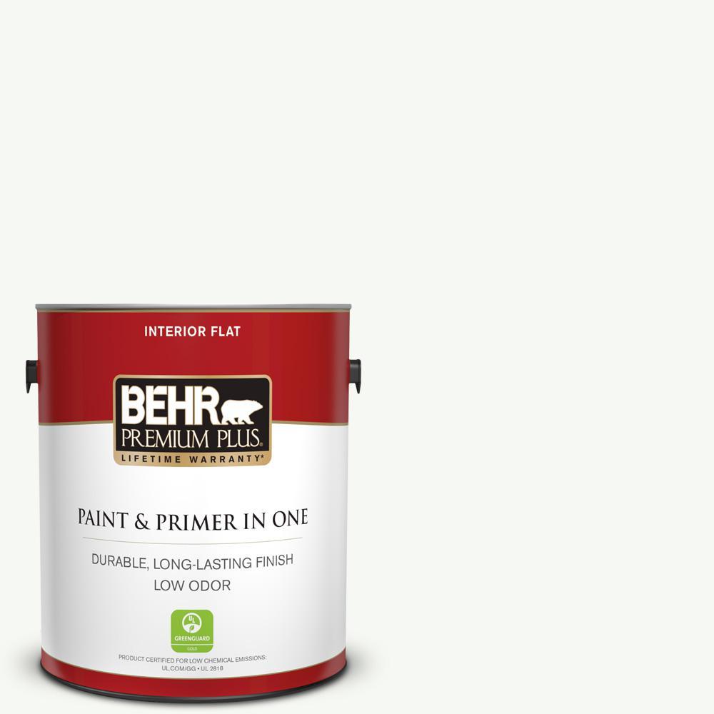 Behr Premium Plus 1 Gal Ppu18 06 Ultra Pure White Flat Low Odor