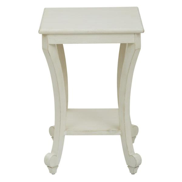 OSP Home Furnishings Daren Accent Table in Country Cottage DAR6504-AC1