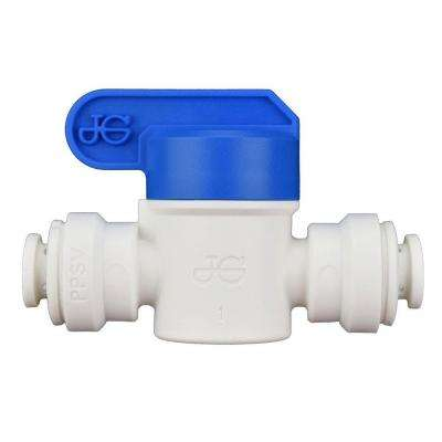 1/4 in. Polypropylene Push-to-Connect Valve (10-Pack)