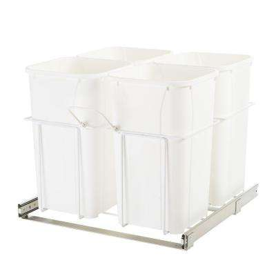23.37 in. x 22 in. x 19 in. In Cabinet Pull-Out Bottom Mount Trash Can