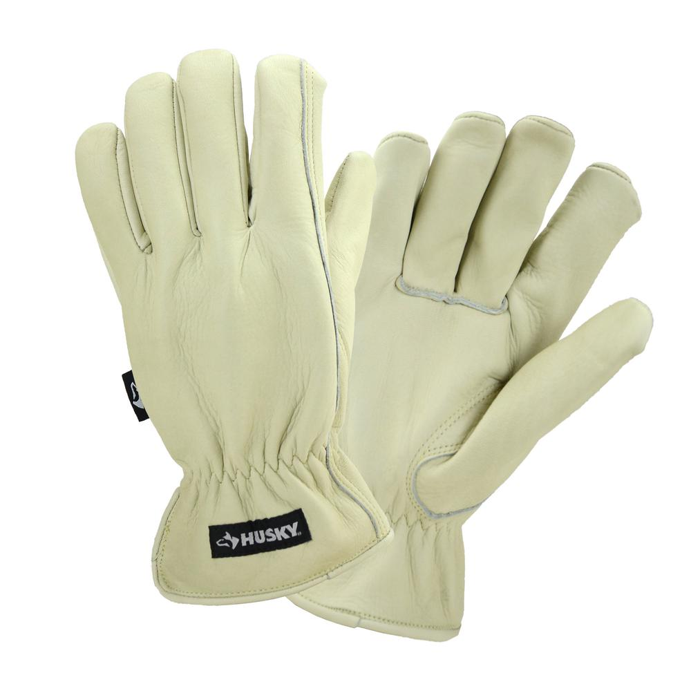 Husky Large Water Resistant Leather Work Glove