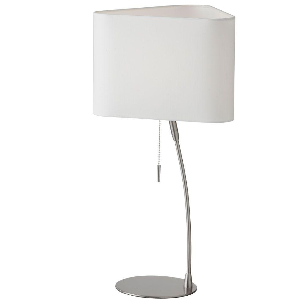 Maring 24 in. Satin Chrome Table Lamp