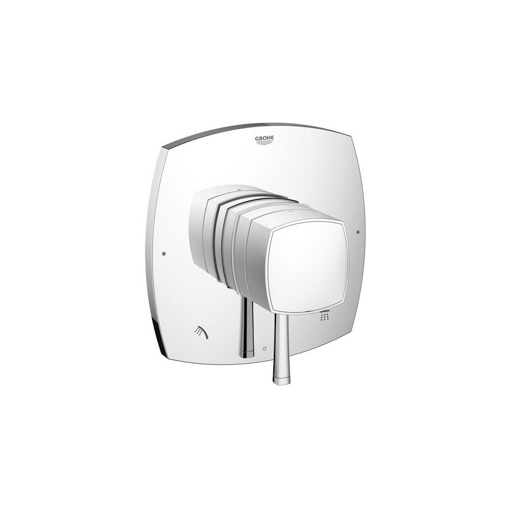 GROHE GrohFlex Grandera Single Handle Valve Trim Kit in StarLight Chrome (Valve Sold Separately)