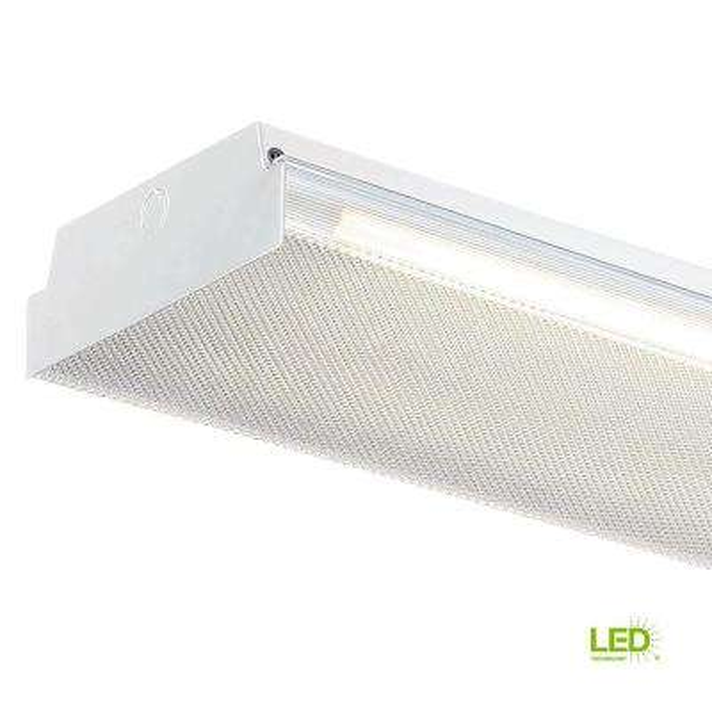 4 ft. x 9 in. W White LED Flushmount MV Wraparound Light with Two T8 LED 4000K Tubes