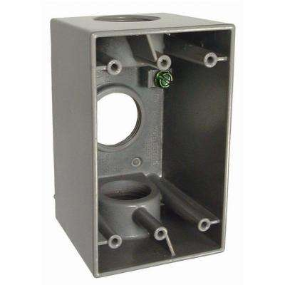 1-Gang Weatherproof Deep Box with Three 1 in. Outlets
