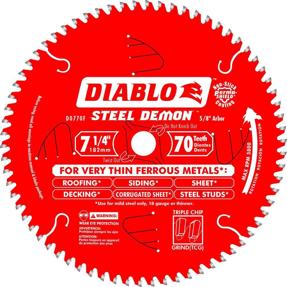 7-1/4 in. x 70-Tooth Steel Demon Ultra Fine Ferrous Metal Cutting Saw Blade