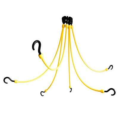 24 in. Polyurethane Flex Web with Six Arms in Yellow