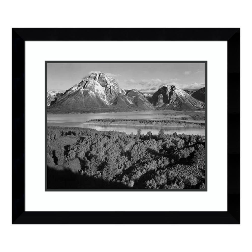 """View toward Mount Moran, Grand Teton National Park, Wyoming, 1941"" by Ansel Adams Framed Wall Art"